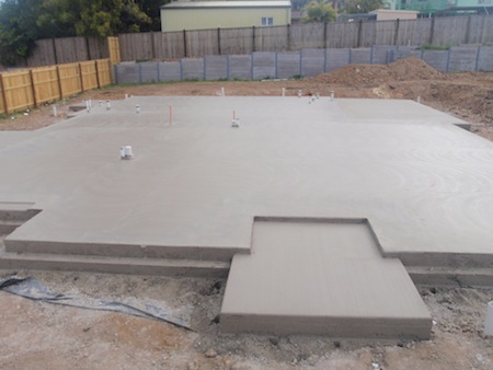 Raised Bed On Concrete Pad