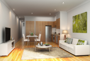 Open plan living at Paperbark Place in Mooroolbark