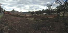 Getting construction ready at 33 Cambridge Road in Mooroolbark