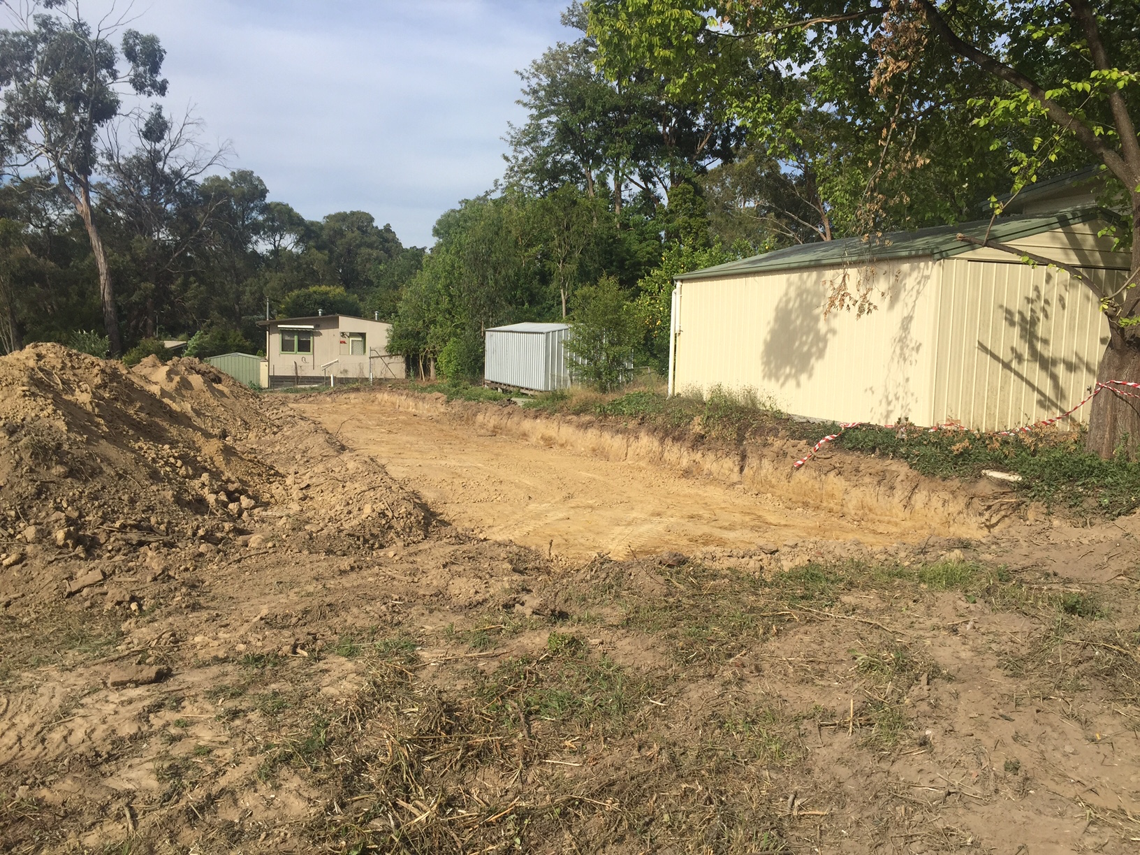 Early works at Paperbark Place in Mooroolbark