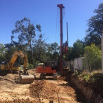 Video shows drilling of bore piers at 33 Cambridge Rd in Mooroolbark