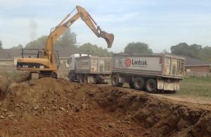 Heavy excavation starts at Cambridge Rd in Mooroolbark