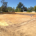 Video shows completion of heavy excavation at Cambridge Rd Mooroolbark