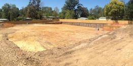 Heavy excavation completed at 33 Cambridge Rd Mooroolbark